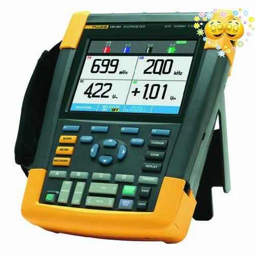 #science The #Fluke ScopeMeter 190 series is a handheld, four-channel digital oscilloscope for viewing electrical signals with a 999-count multimeter mode for me...