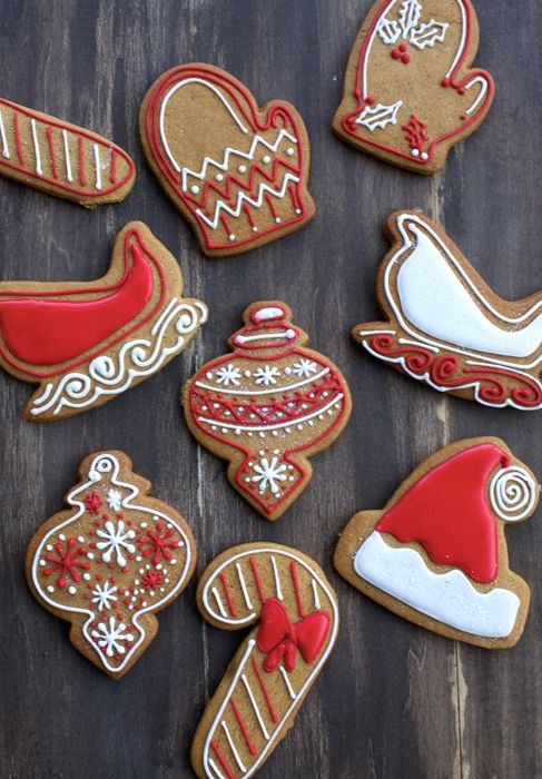 Iced Gingerbread Cookies.  Adorable!