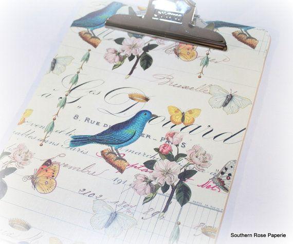 Presse-papiers oiseau Couronne Français par SouthernRosePaperie