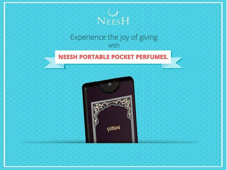 Neesh, the perfect #gift for every occasion. #PortablePocketPerfume Buy now: http://goo.gl/zGysq8