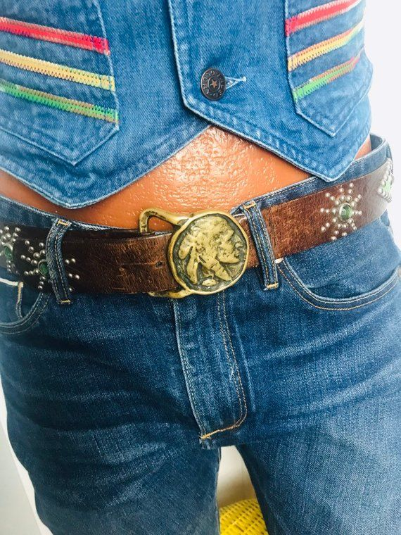 Jay Personalized Name Retro Old School Hippie Western Solid Brass 1970s New NOS Collectible Vintage Belt Buckle