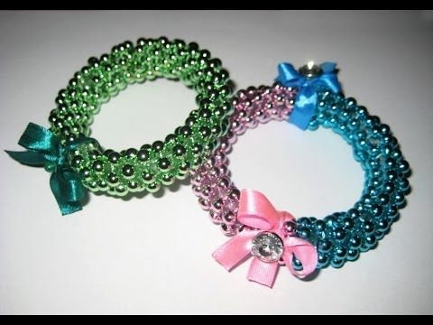 DIY Браслеты из бусин и пластиковой бутылки / Bracelet from a plastic bottle / Handmade - YouTube