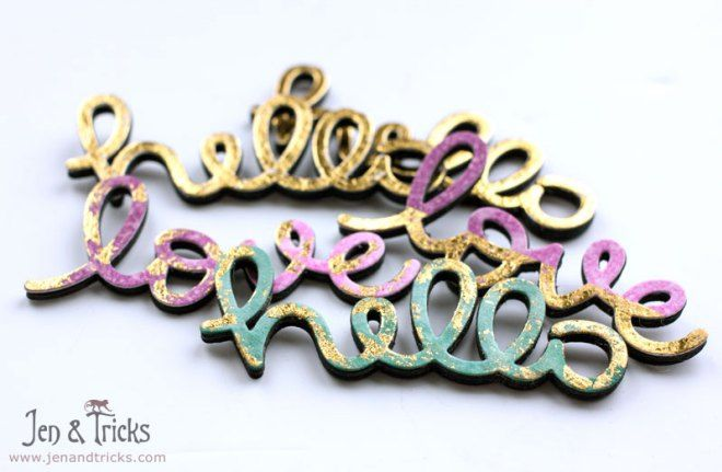 "Stacked die cuts using Lawn Cuts / Lawn Fawm ""Scripty Hello"" and ""Scripty Love"""