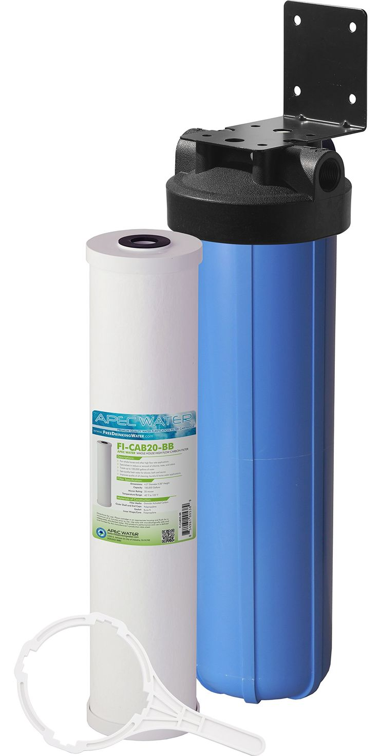 """APEC Whole House Water Filter System with 20"""" Big Blue Carbon Filter (CB1-CAB20-BB)"""