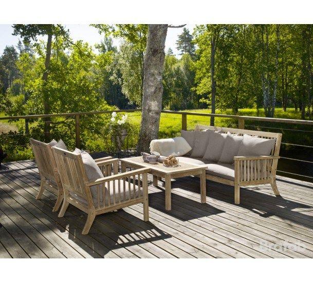 Brafab - Cecilia Loungebord - Natur - Loungebord i teak