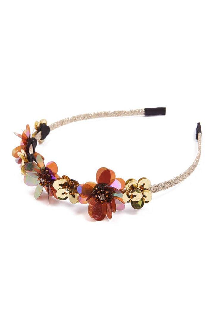 J2017  Floral Glitter Headband