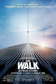 The Walk is a 2015 American 3D biographical drama film directed by Robert Zemeckis and written by Christopher Browne and Zemeckis. It is based on the story of French high-wire artist Philippe Petit's walk between the Twin Towers of the World Trade Center on August 7, 1974. The film stars Joseph Gordon-Levitt, Ben Kingsley, Charlotte Le Bon, James Badge Dale, Ben Schwartz, and Steve Valentine.