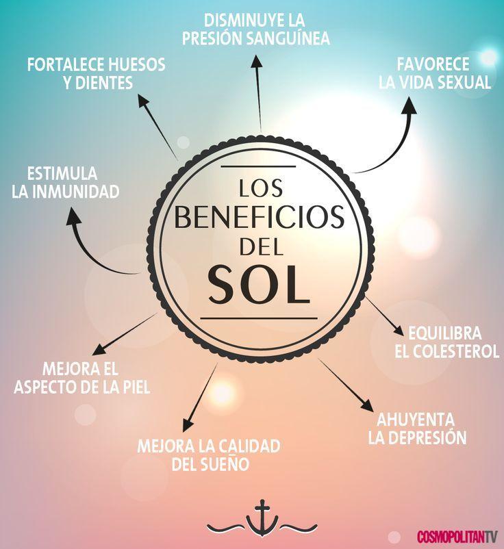 Beneficios del sol para nuestra salud. #infografia #sol