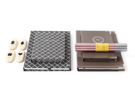 Fine&Candy stationery - Grey tie and Smookey
