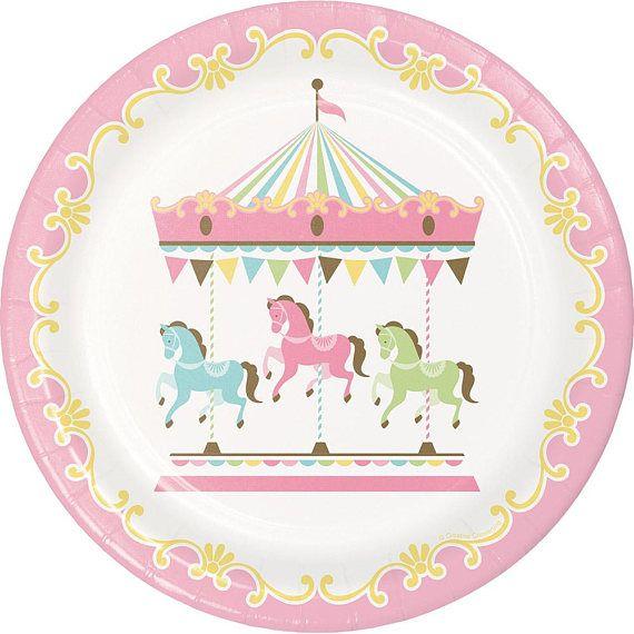 Pastel carrusel fiesta placas / placas fiesta carrusel /