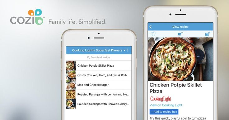 Cozi now includes delicious recipes from the latest issue of Cooking Light! #dinner #promotion