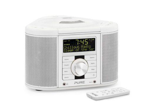 Pure Chronos CD Series 2 DAB/FM/CD Stereo Clock Radio   White Pure