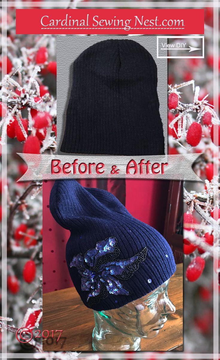 ... Cardinal Sewing Nest. DIY Embellished hat with appliqué e5ec1ace6216