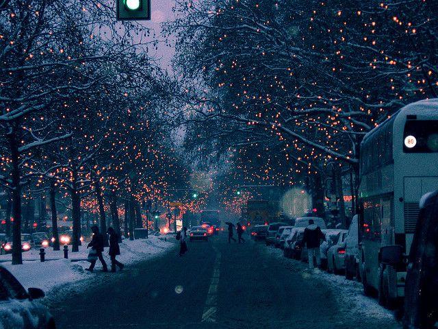 Snowy Berlin, Germany