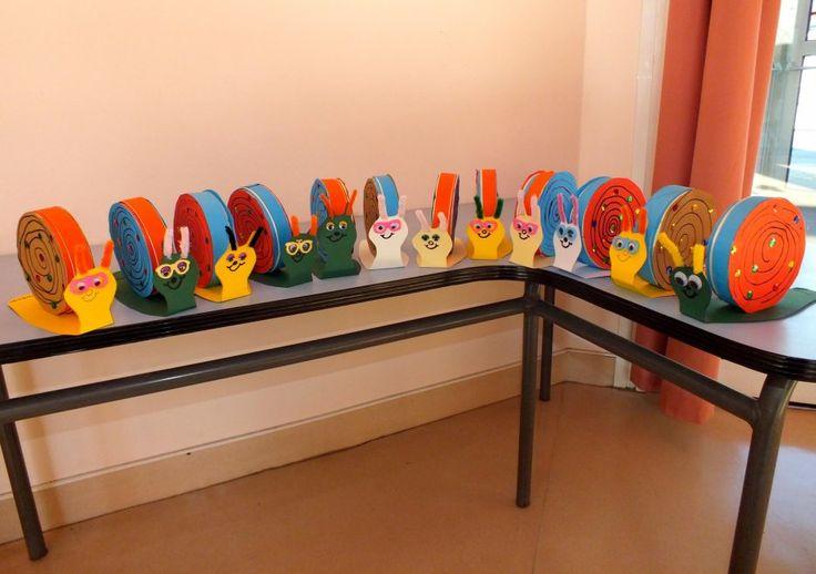 fabrication d 39 escargots avec des boites de camembert enfants pinterest camembert escargot. Black Bedroom Furniture Sets. Home Design Ideas