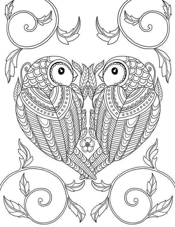 """""""pour me donner des ailes"""" coloring book agenda 2015 on Behance"""