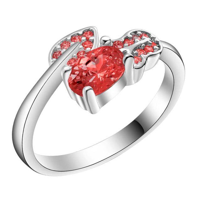 Сегодня специальный новый посеребренные аксессуары симпатичные trend Женщины блестящий кристалл CZ кольцо бесплатная доставка