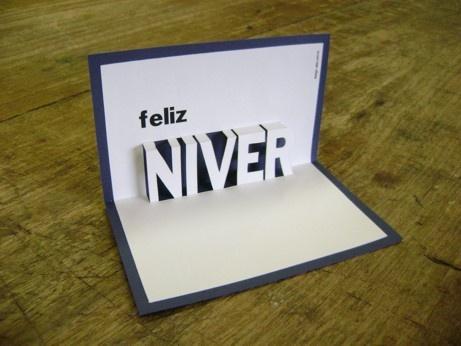 Cartão pop-up: Feliz Niver.