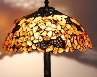 Tiffany Lamp 40 cm 16 in Maple Tiffany Desk Lamp Tiffany | Etsy  # Витражи