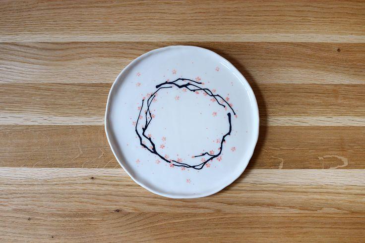 porcelain plate - sakura