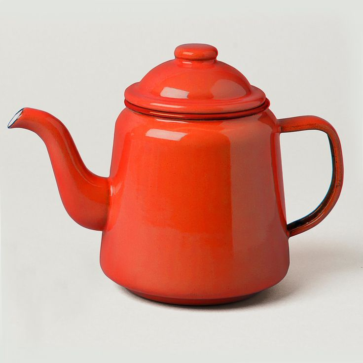 Enamel Teapot - Red | Howkapow