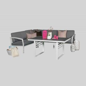 Gruppe Lima (Hjørnesofa med høyt bord og puter)