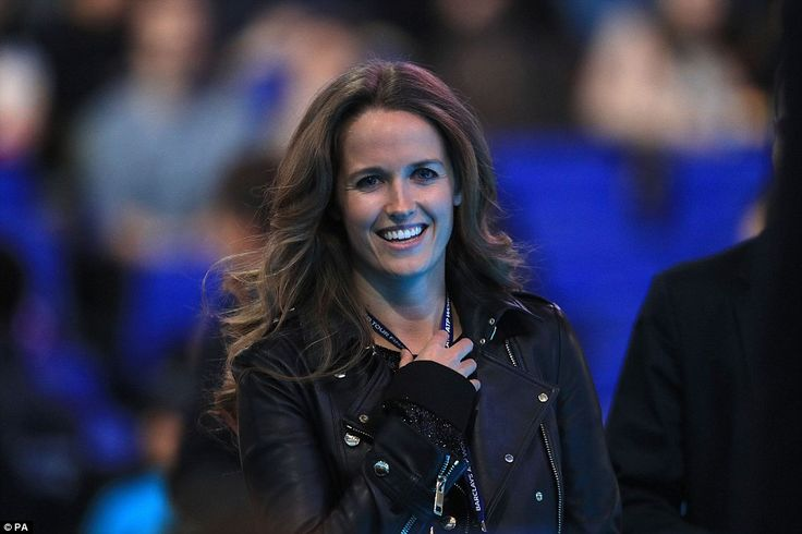 Proud as punch: Andy Murray's wife, Kim Sears, is all smiles as her husband sealed his pos...
