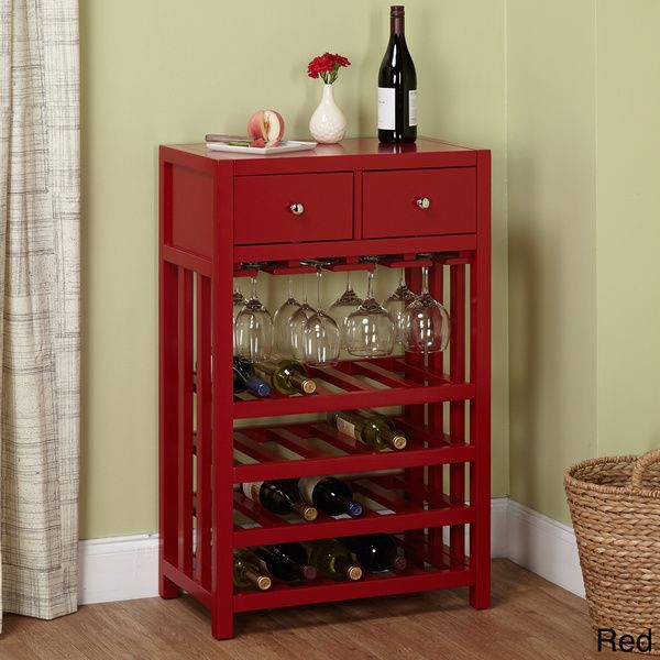 simple living napa wood 20bottle wine tower overstock shopping great deals on