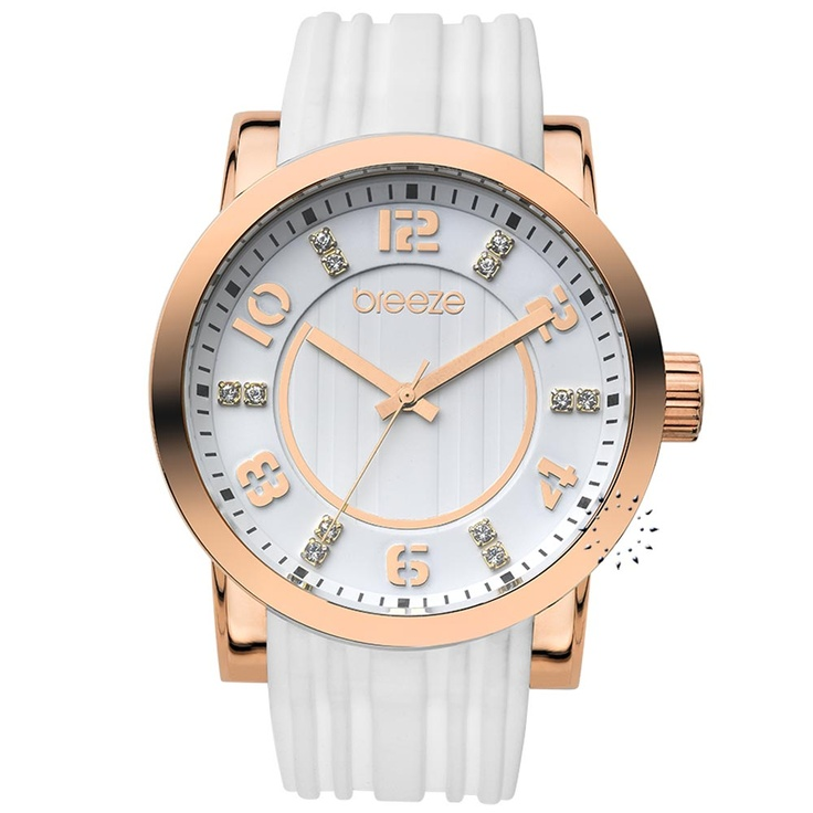 BREEZE Ocean Drive White Rubber Strap Μοντέλο: 110041.7 Τιμή: 125€ http://www.oroloi.gr/product_info.php?products_id=30523