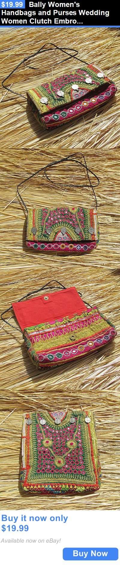 Bridal Handbags And Bags: Bally Womens Handbags And Purses Wedding Women Clutch Embroidery Ethnic Bag Art BUY IT NOW ONLY: $19.99