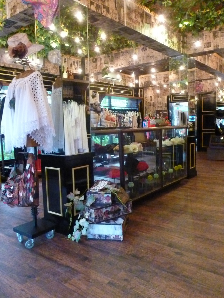 "Boutique ""AT THE CORNER"" in Nusa Dua in American Vintage Style in Bali, Indonesia...Urban Shopping in Paradise!"