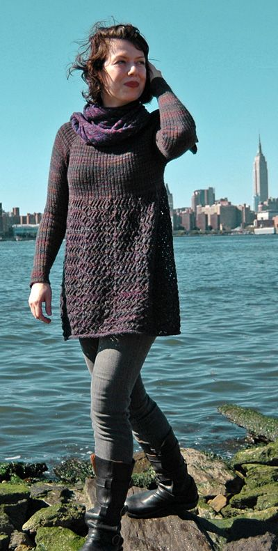 top down knitting, I've been looking for a sweater to knit...and it's made with sock yarn!