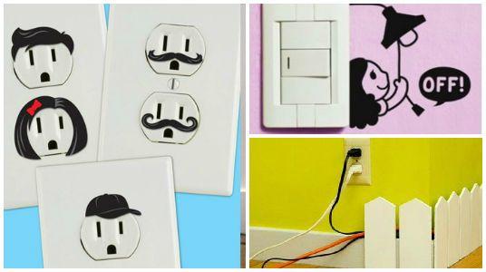 Ideas creativas para decorar los enchufes cables y - Interruptores y enchufes ...
