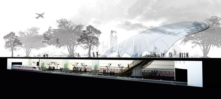 Underground Railway Station Concept in Tel Aviv, Israel