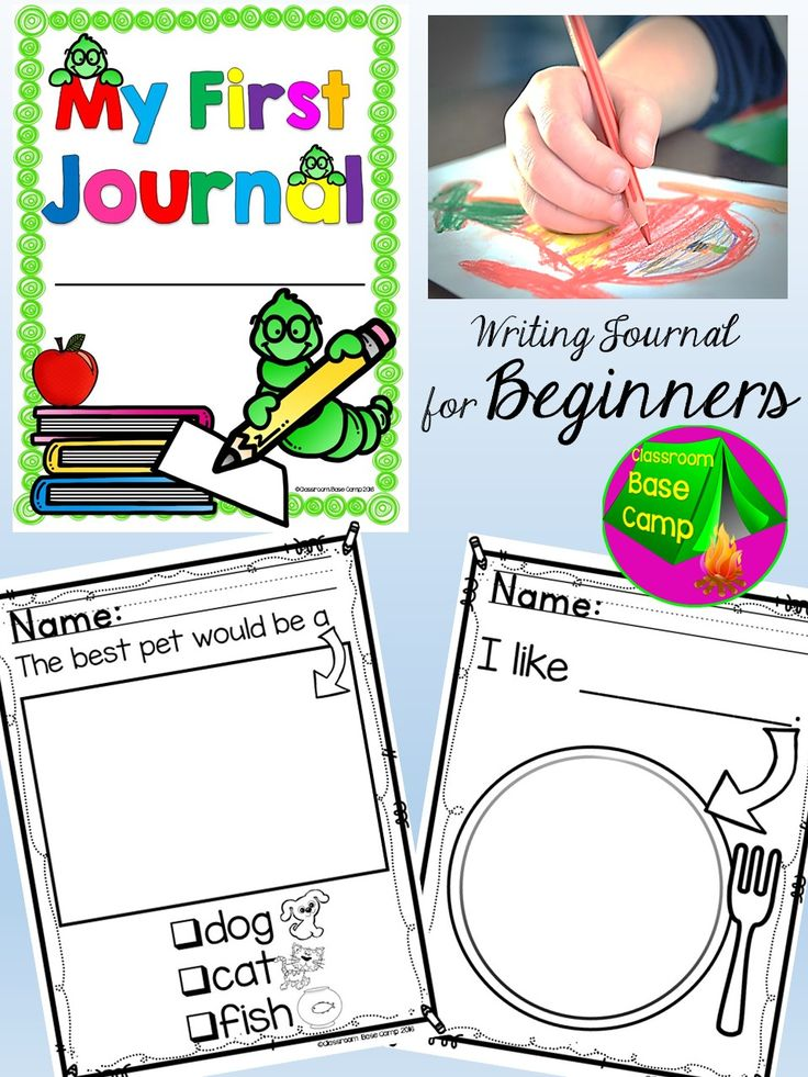 Writing Journal for beginners - These writing prompts are designed for emerging writers that are entering Kindergarten.  The simple prompts give new writers the confidence to complete the writing assignment independently.