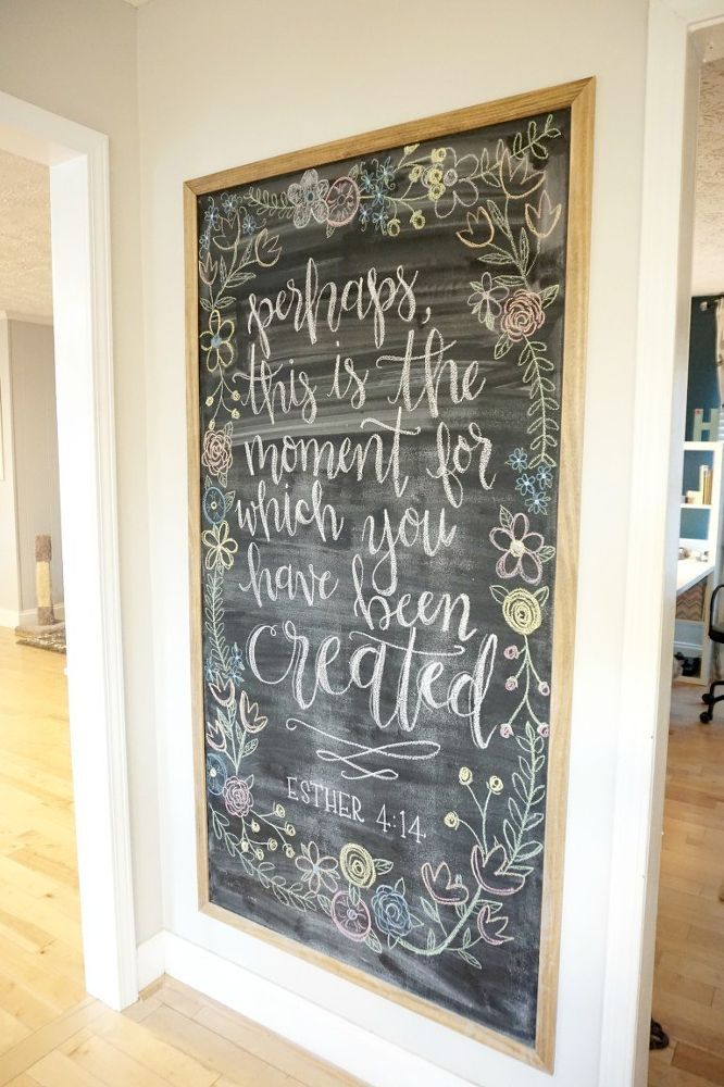 Framed Magnetic Chalkboard DIY Love the floral border and a quote idea for the inside of the OIAC