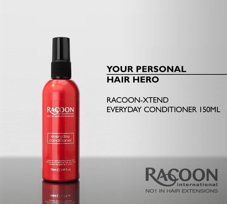 Your personal hair hero -     The super-heroic instant reconditioning spray that saves the day from tangles and static!    Along with the Racoon-Xtend Thermal Defense spray, this fruity leave-in formula is to designed to protect both your Racoon International hair extensions and natural hair from harmful UV rays, blow drying and heat.    Apply a quick spritz to the mid-lengths of wet or dry hair to boost smoothness and shine. To see the full Racoon-Xtend haircare range, visit our online…