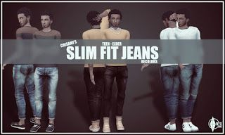 6 Recolors of Chisami Slim Fit Jeans - Onyx Sims