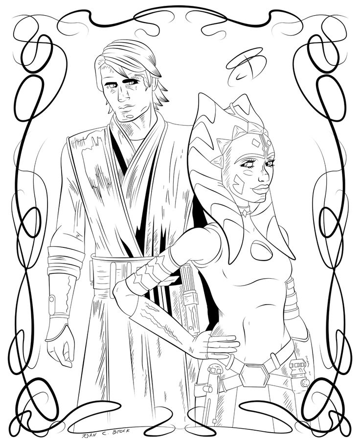 10 best Ahsoka Coloring images on Pinterest Ahsoka tano, Star - best of star wars coloring pages the force awakens