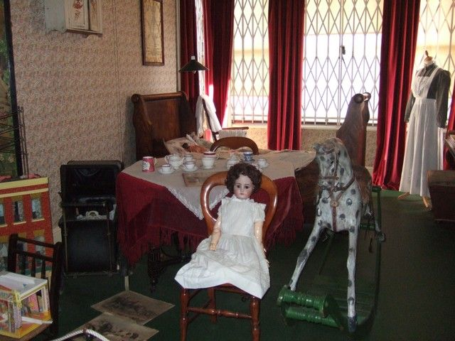 The sort of Nursery that would be found in the house of a well-off Victorian family. Photographed at the Cecil Higgins Museum, Bedford. A recreated Victorian Mansion (originally the home of the Higgins family, wealthy Bedford Brewers).