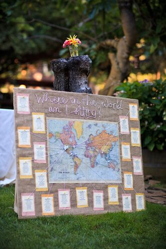 Where in the world am I sitting? Cute idea! Might have to be a do! Saves money on table cards!!