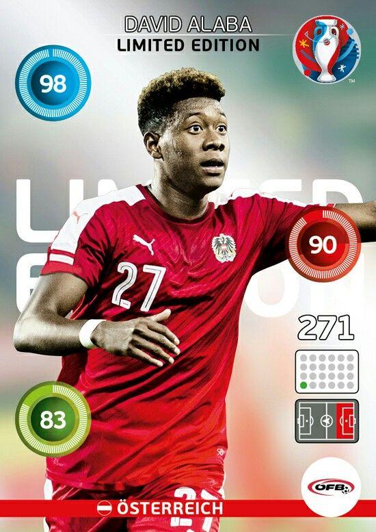 David Alaba - EURO 2016 - PANINI