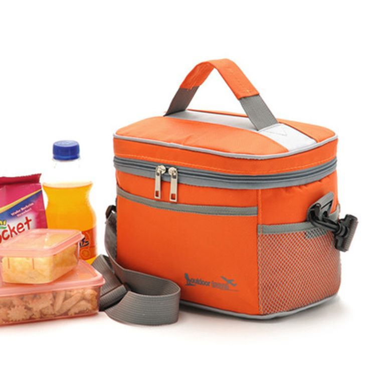 Square Thermal Lancheira Lunch Bag Cooler Beam Port Lunch Box Work School Picnic Lady Handbag Kids Lunch Bags Insulation Package