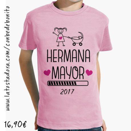 Camiseta Hermana Mayor 2017 Rosa