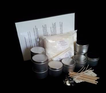 DON'T MISS OUT ON THIS DEAL. ON SPECIAL AND ONLY 2 LEFT  Every thing you need to make Great Quality Candles  Kit Includes:  1Kg Soy Wax 10 x 4oz Candle Travel Tins 10 x wicks 10 x stickuums 10 x Warning Labels 10 x Wick Holders Easy to follow Instructions