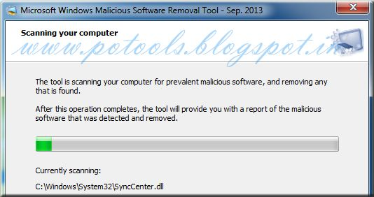 Free Windows Malicious Software Removal Tool | POTOOLS