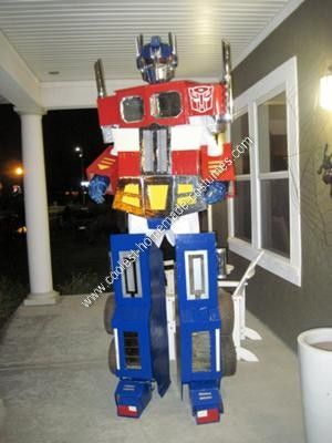 Homemade Optimus Prime Halloween Costume Idea: This costume idea is based on the Masterpiece Optimus Prime Action Figure...
