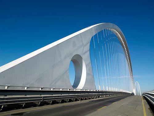 Reggio Nell'emilia Central Motorway Bridge, Bologna, Mancasale, Italy, Santiago Calatrava