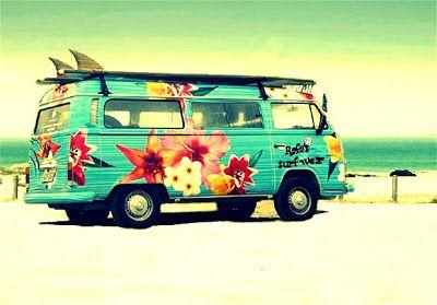 Vintage Volkswagen Bus...Surf Style