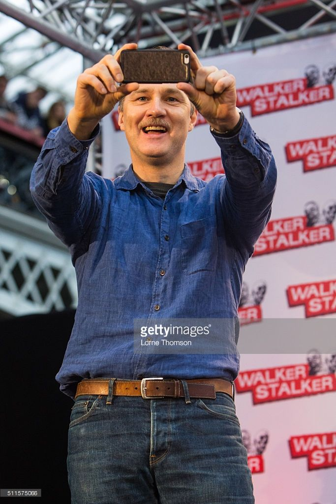 David Morrissey takes part in a panel focusing on his role of The Governor on AMC's The Walking Dead, on day two of Walker Stalker Con at Olympia Exhibition Centre on February 21, 2016 in London, England.
